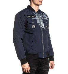 Куртка муж. Affliction INVICTUS JACKET NAVY