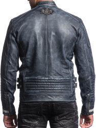 Куртка кожаная Affliction муж. VELOCITY LEATHER JACKET