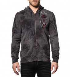 Толстовка муж. Affliction BAD LUCK MOTORS L/S ZIP HOOD