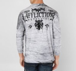 Пуловер муж. Affliction TRIED DUSK L/S CREW