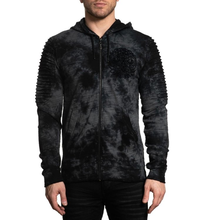 Толстовка муж. Affliction DARK OAK L/S ZIP HOOD