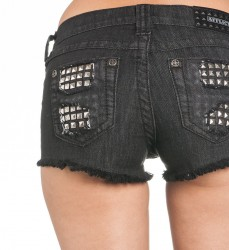 Шорты жен. Affliction VIKKI IRIS BLACK SHORT