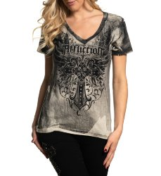 Футболка жен. Affliction HUNTINGTON GARDENS S/S VNECK