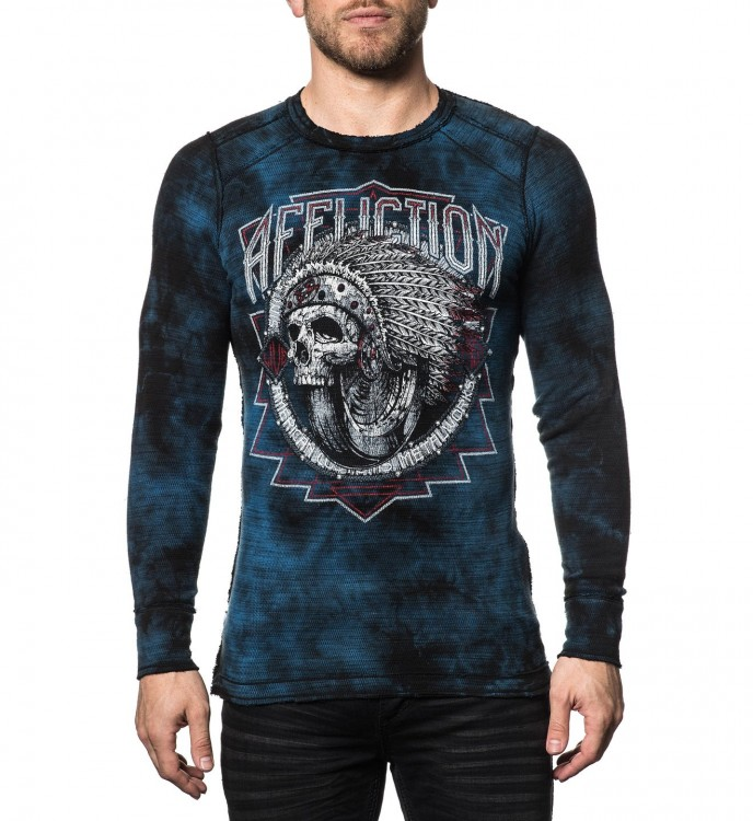 Пуловер муж. Affliction SPIKER IMPACT L/S REV.THERMAL