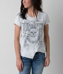 Футболка жен. Affliction THE BARBER S/S CAP SLV TEE