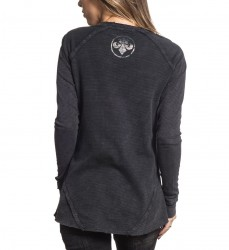 Пуловер жен. Affliction DIVIO EMPIRE L/S SCOOP THERMAL