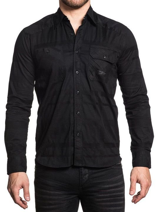 Рубашка муж. Affliction Black in Black